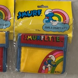 Vintage Bags - Smurffette Wallet Have a Smurfy Day
